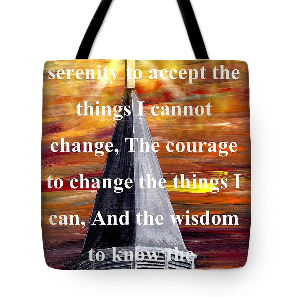 God Tote Bag featuring the painting Serenity Prayer 1 by Mark Moore