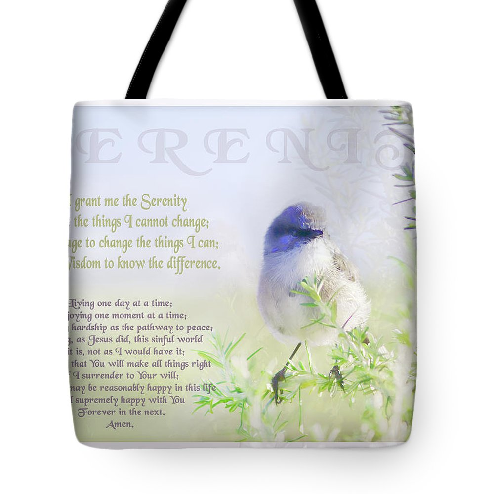 Animals Tote Bag featuring the photograph Serenity Prayer by Holly Kempe