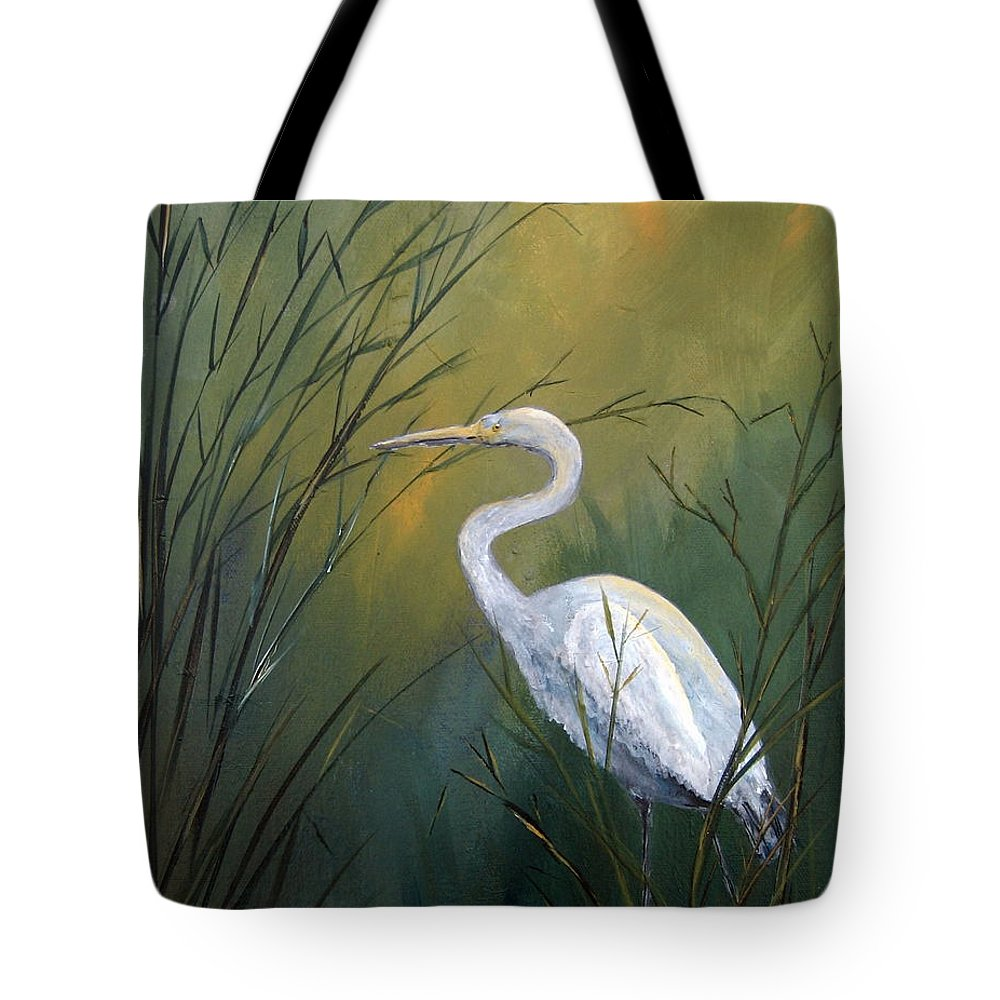 Louisiana Art Tote Bag featuring the painting Serenity by Suzanne Theis