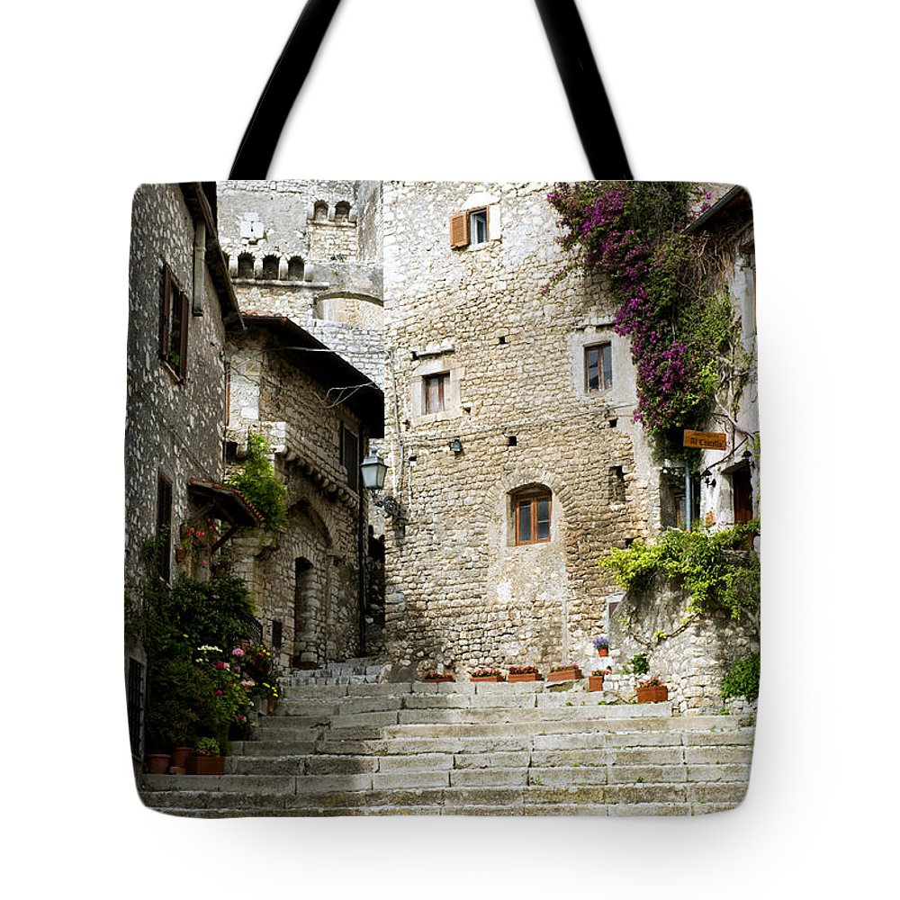 Sermoneta Tote Bag featuring the photograph Sermoneta by Fabrizio Troiani