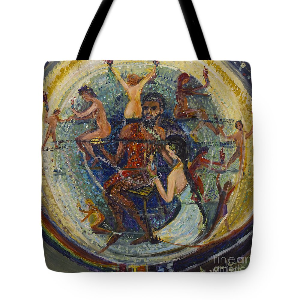 Art Tote Bag featuring the painting Servitude by Avonelle Kelsey