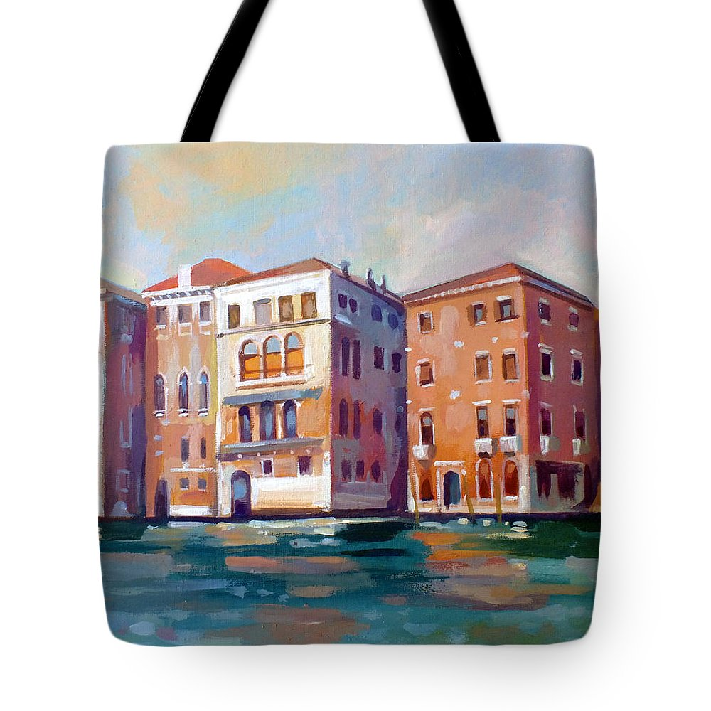 Venice Tote Bag featuring the painting Sestiere San Marco by Filip Mihail