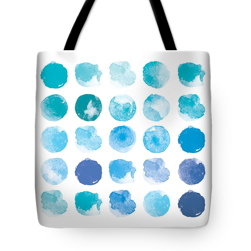Art Tote Bag featuring the digital art Set Of Colorful Watercolor Hand Painted by Irinabogomolova