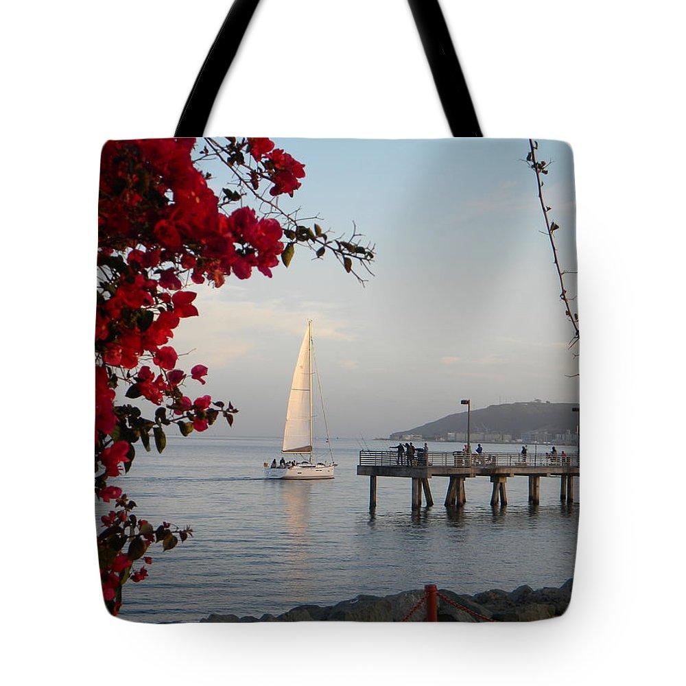 Sailboat Tote Bag featuring the photograph Set Sail by Eric Johansen