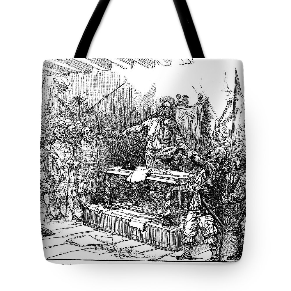 1690 Tote Bag featuring the painting Seth Sothell, 1690 by Granger