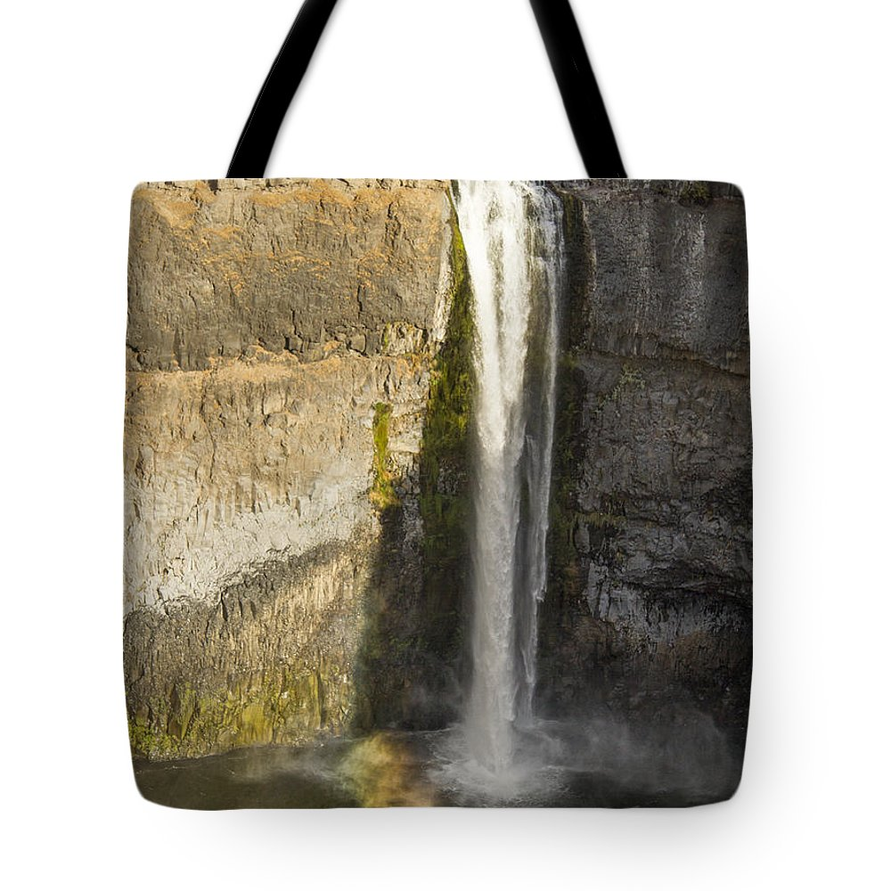 Palouse Falls Tote Bag featuring the photograph Setting Sun On Palouse Falls by Jean Noren