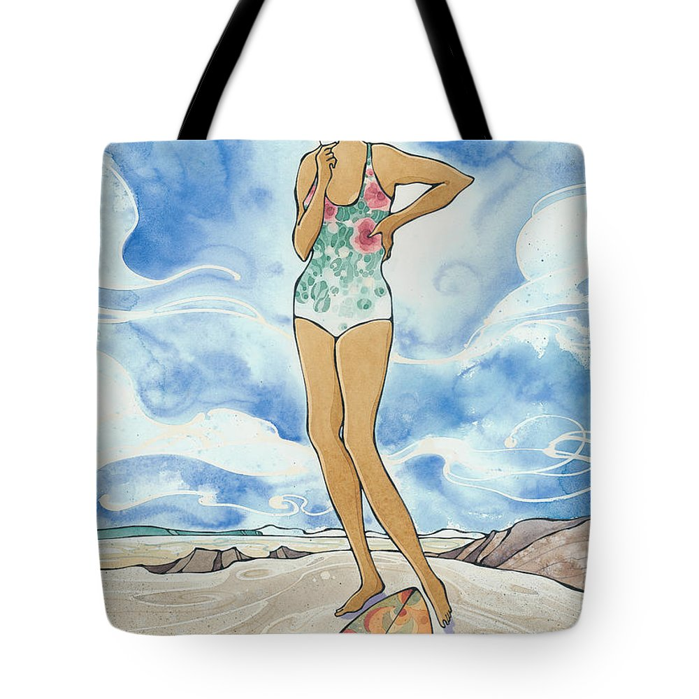 Fine Art Tote Bag featuring the painting Sex Wax by Harry Holiday