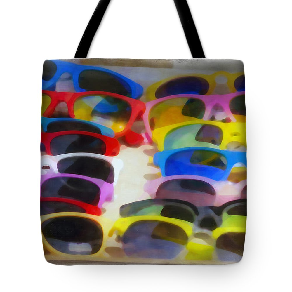 Abstract Tote Bag featuring the photograph Shades Of Shades by Hal Halli