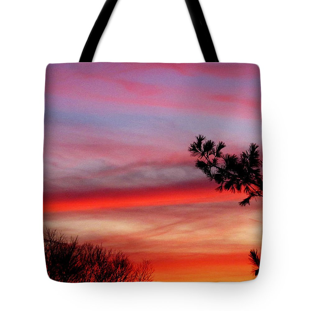 Sun Tote Bag featuring the photograph Shades Of Sunset by Tina M Wenger