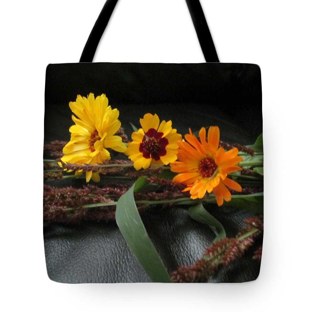 Flower Tote Bag featuring the photograph Shades Of Yellow by Tina M Wenger