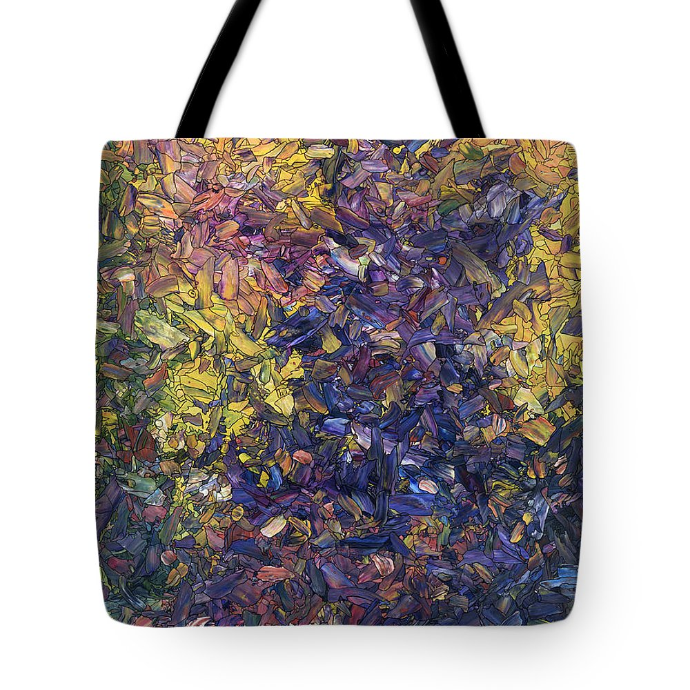 Shadows Tote Bag featuring the painting Shadow Dance by James W Johnson