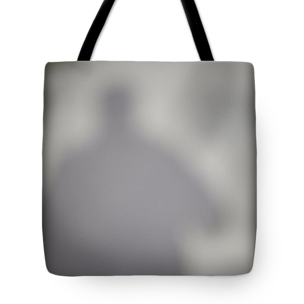 Shadow Tote Bag featuring the photograph Shadow On Sidewalk by Steven Dunn