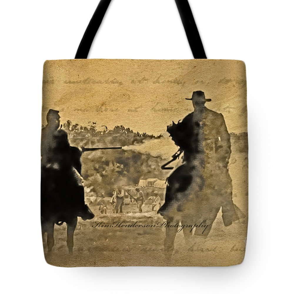 Silhouette Art Tote Bag featuring the photograph Shadow Riders by Kim Henderson