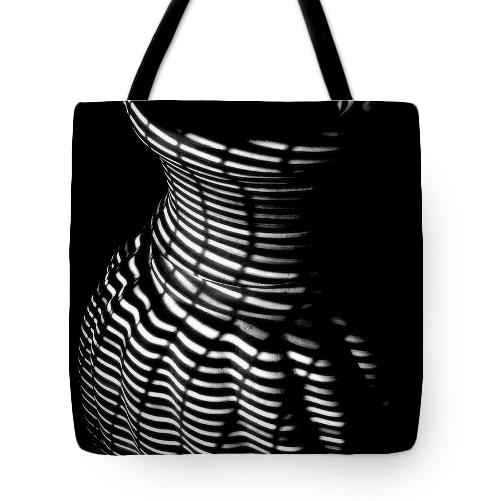 Rightfromtheart Tote Bag featuring the photograph Shadow Urn by Bob and Kathy Frank