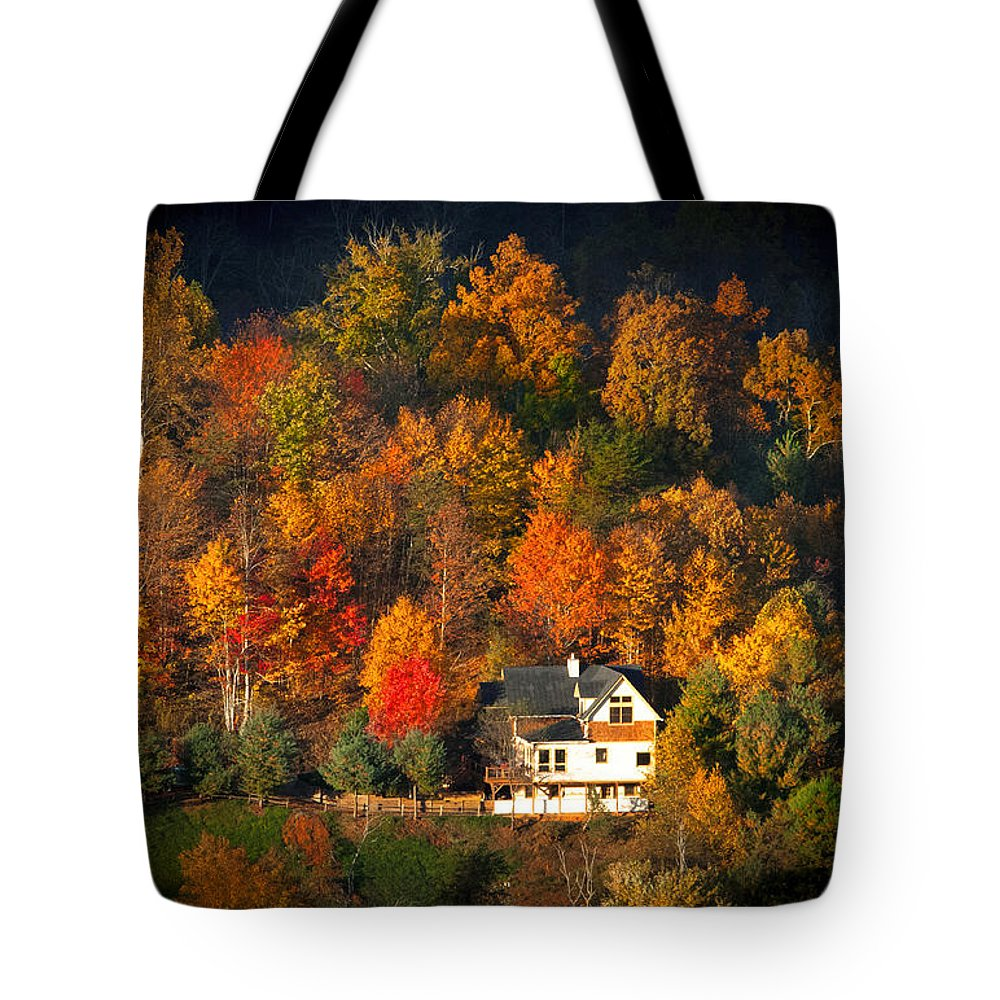 Abandoned Tote Bag featuring the photograph Shadows Of A Colorful Past by Lynn Bauer