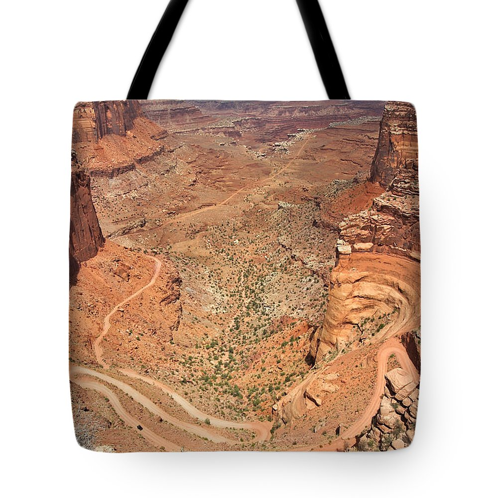 3scape Tote Bag featuring the photograph Shafer Trail by Adam Romanowicz
