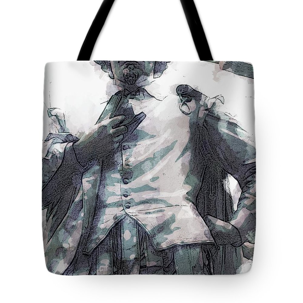 Shakespeare Portrait Statue Central Park New York Tote Bag featuring the photograph Shakespeare In Central Park by Alice Gipson