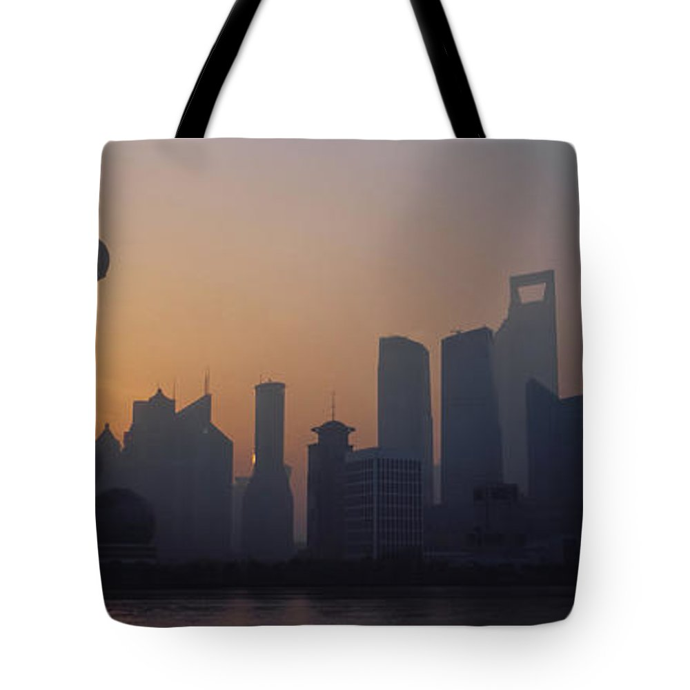 Tranquility Tote Bag featuring the photograph Shanghai In Early Morning by Xijia Cao