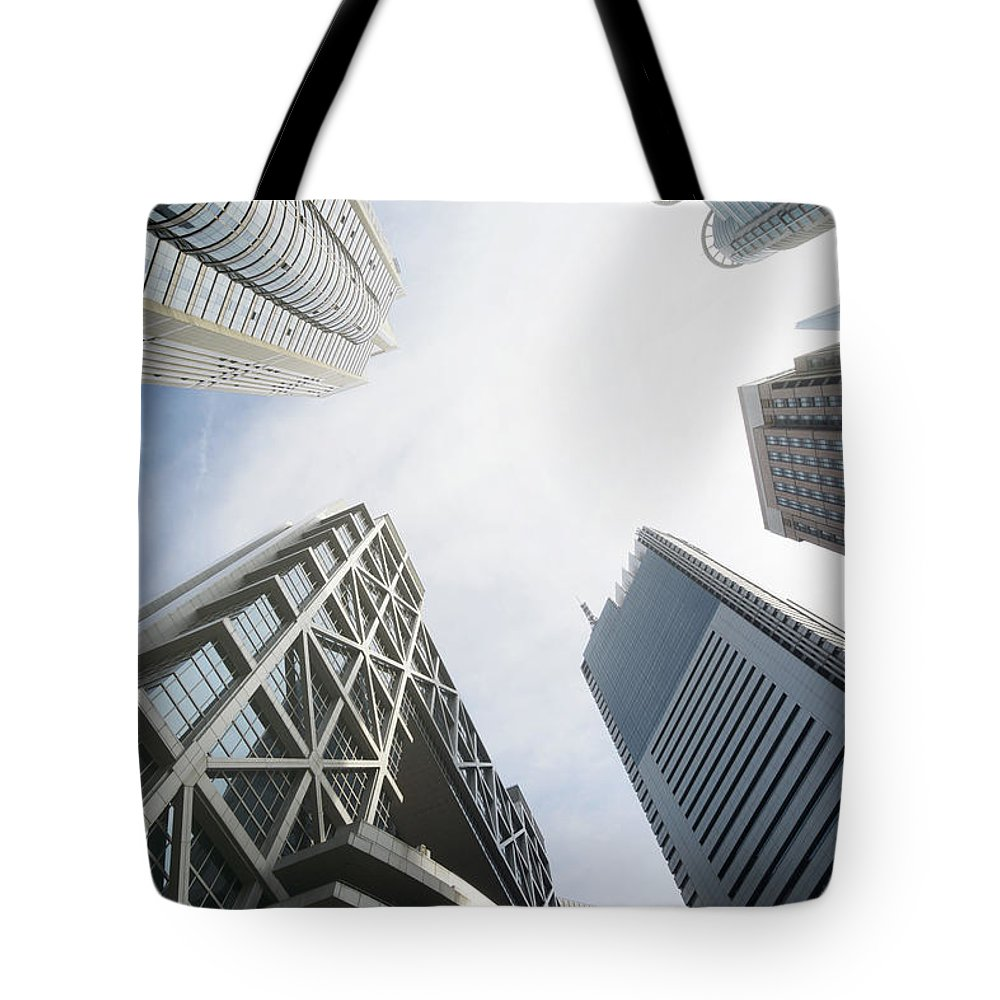 Downtown District Tote Bag featuring the photograph Shanghai Stock Exchange,china - East by Zyxeos30