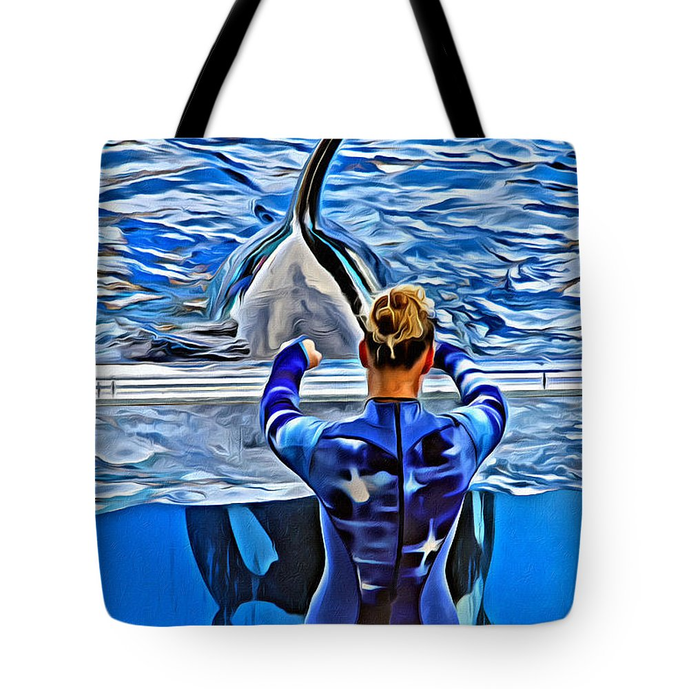 Whale Tote Bag featuring the photograph Shapely Orca by Alice Gipson