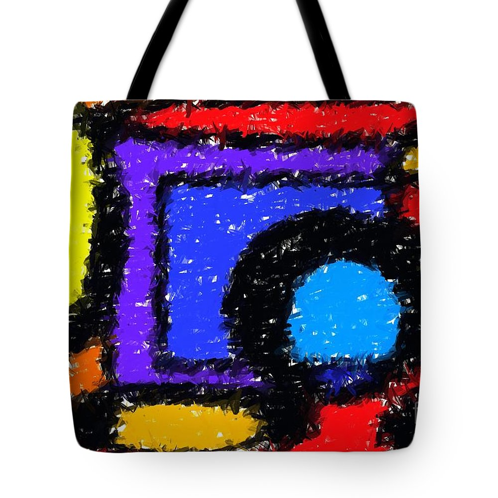 Abstract Tote Bag featuring the digital art Shapes 1 by Chris Butler