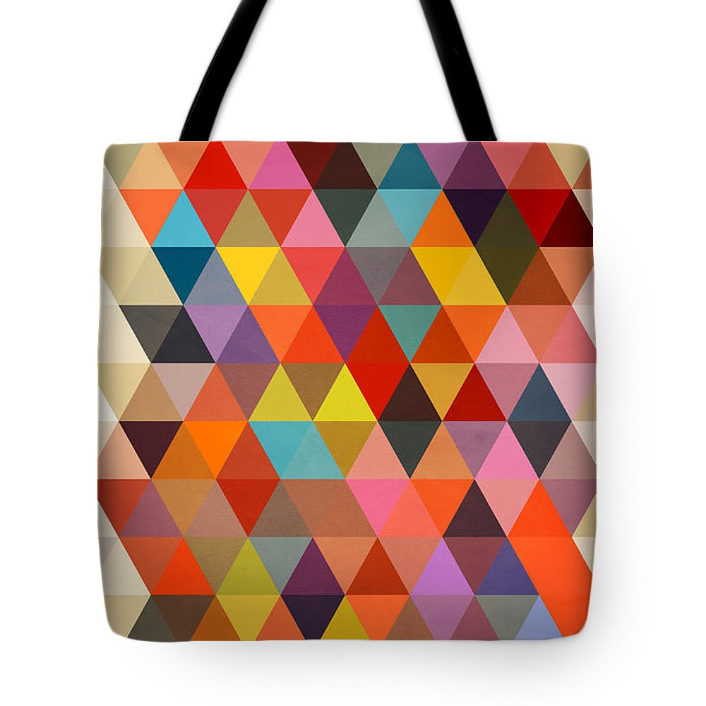 Contemporary Tote Bag featuring the painting Shapes by Mark Ashkenazi