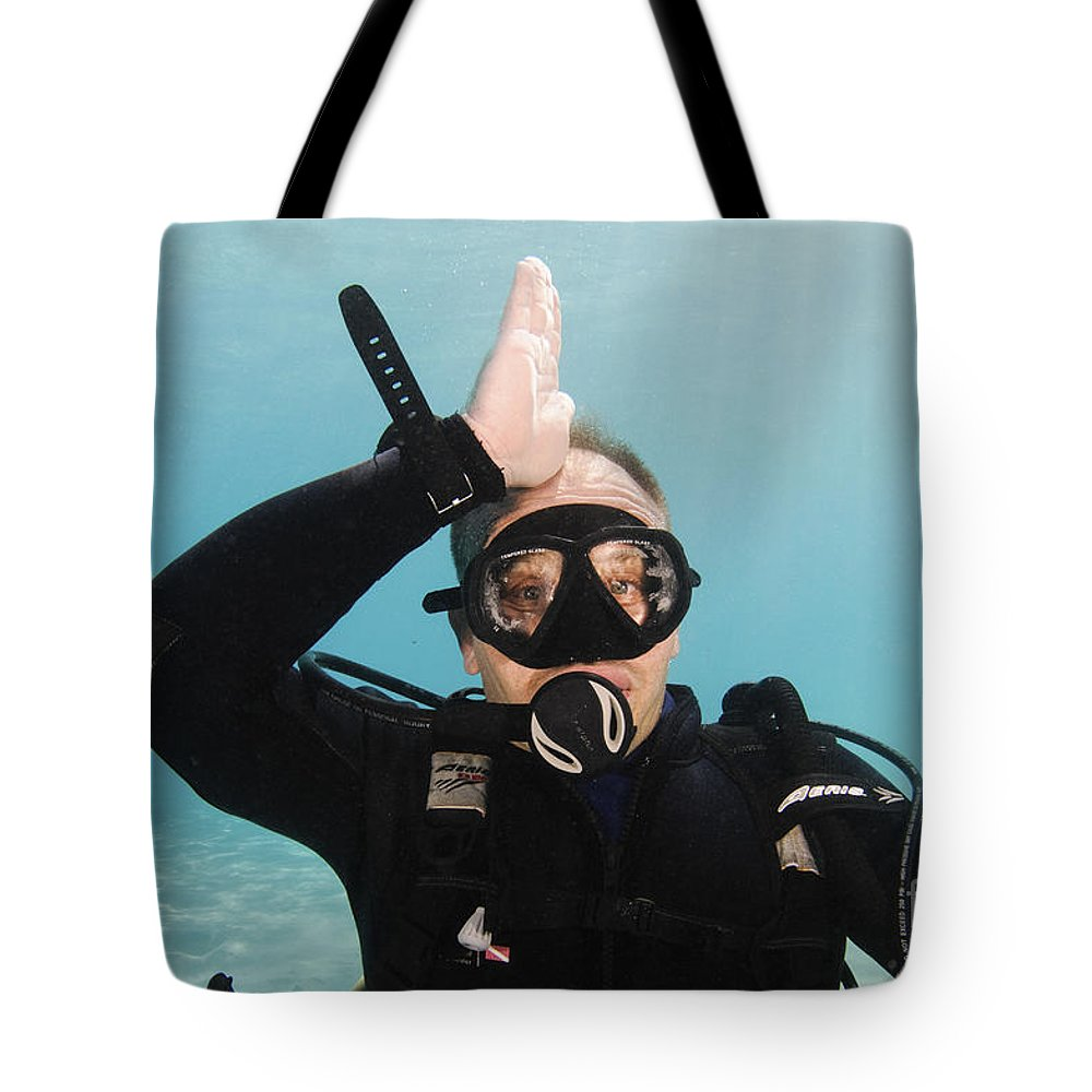 Signing Tote Bag featuring the photograph Shark Alert by Hagai Nativ