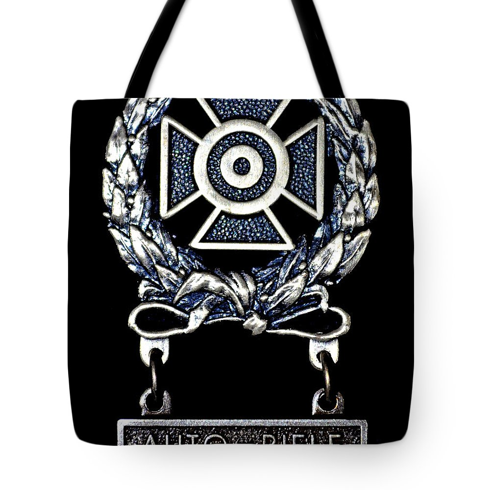 Army Tote Bag featuring the photograph Sharp Shooter 2 by Tikvah's Hope