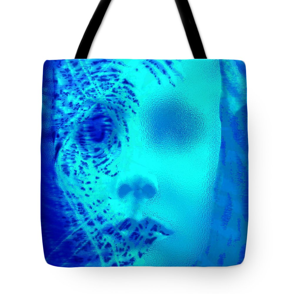 Shattered Doll Tote Bag featuring the digital art Shattered Doll by Seth Weaver