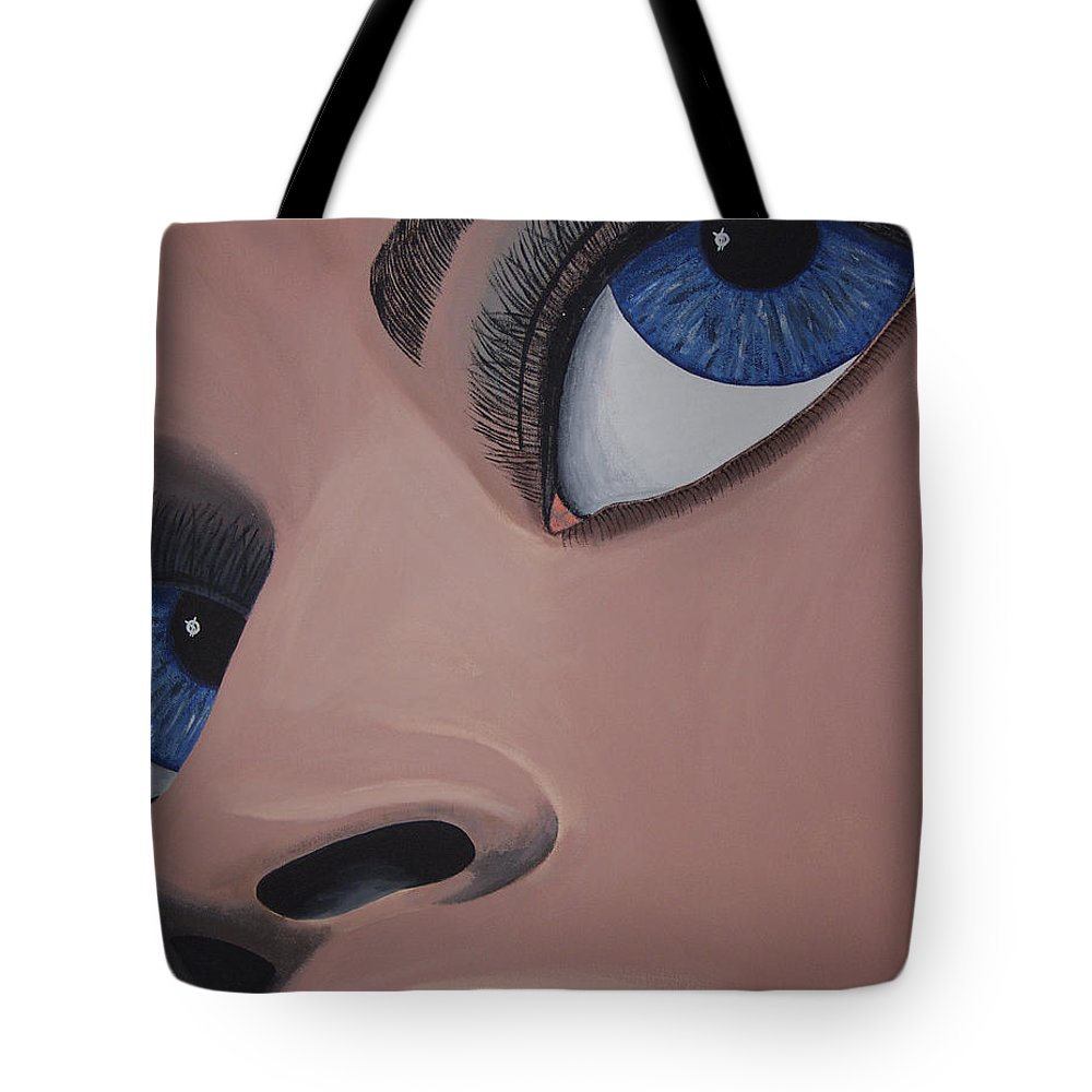 Eye Catching Tote Bag featuring the painting SHE by Dean Stephens