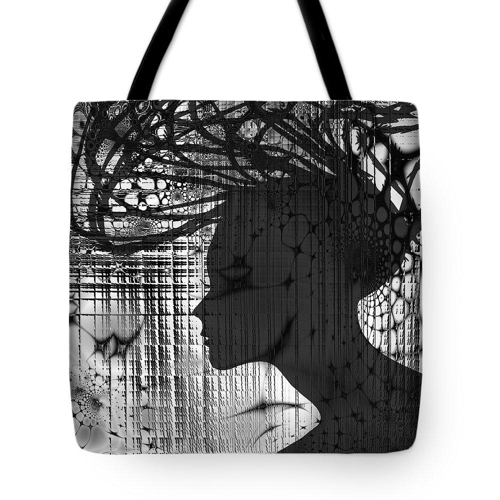 She Rocks Tote Bag featuring the mixed media She Rocks by Kiki Art