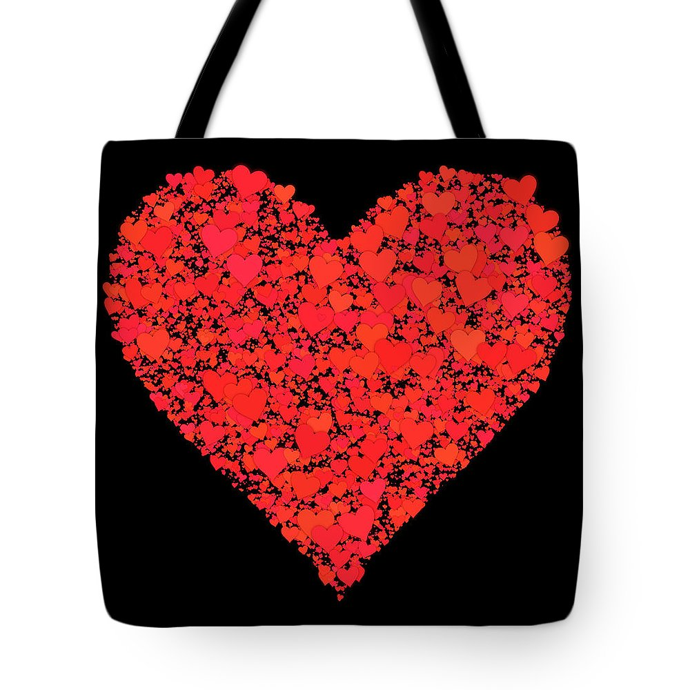 Valentine Tote Bag featuring the digital art She Should Know How I Feel... by Tim Fillingim