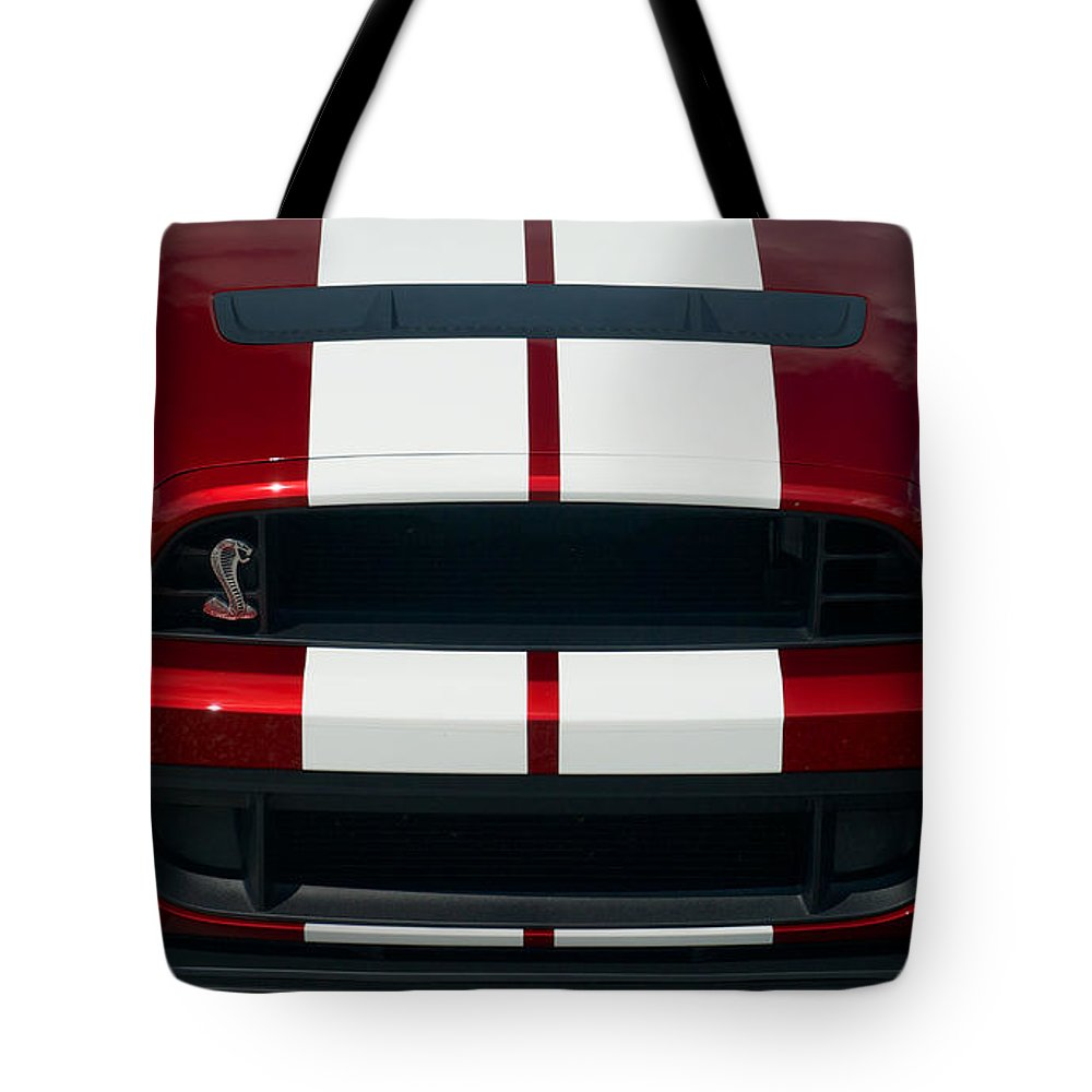 Car Tote Bag featuring the photograph Shelby Cobra Hood by Mark Dodd