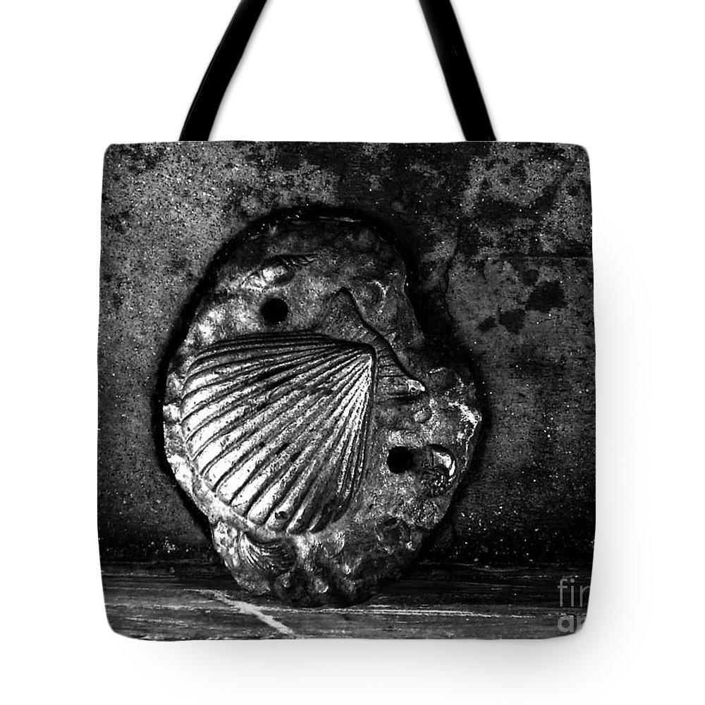 Black And White Photography Tote Bag featuring the photograph Shell 1 by Fei A