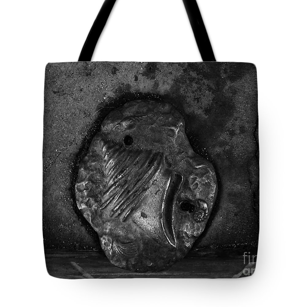 Black And White Photography Tote Bag featuring the photograph Shell 2 by Fei A