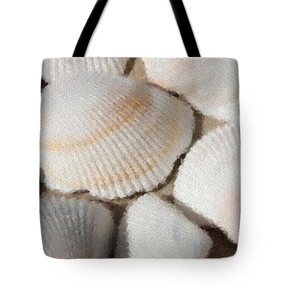 Sunrise Tote Bag featuring the photograph Shell Effects 1 by Michael Anthony