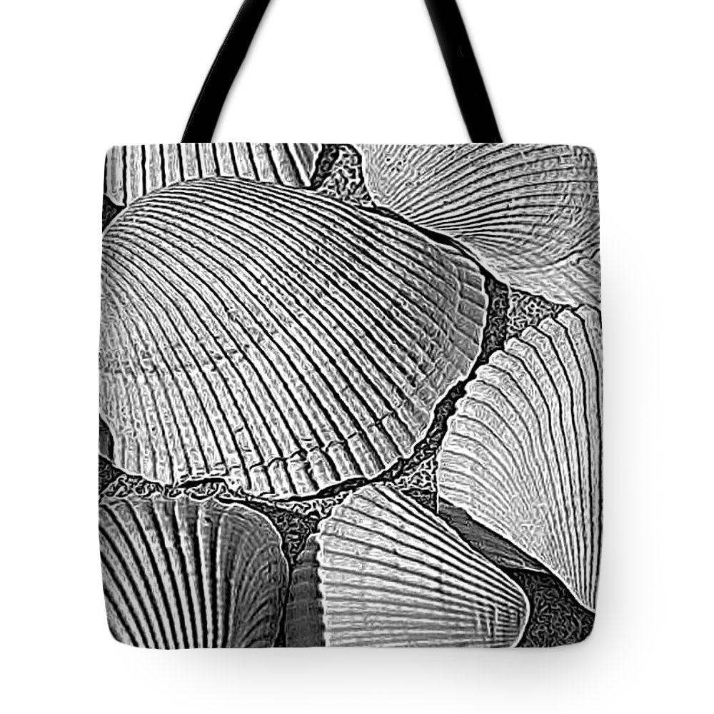 Sunrise Tote Bag featuring the photograph Shell Effects 10 by Michael Anthony