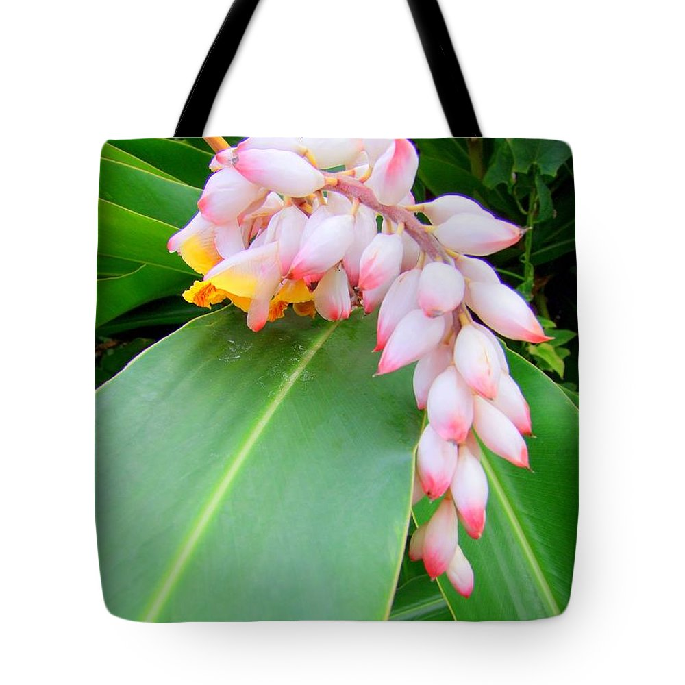 Shell Ginger Tote Bag featuring the photograph Shell Ginger by Mary Deal