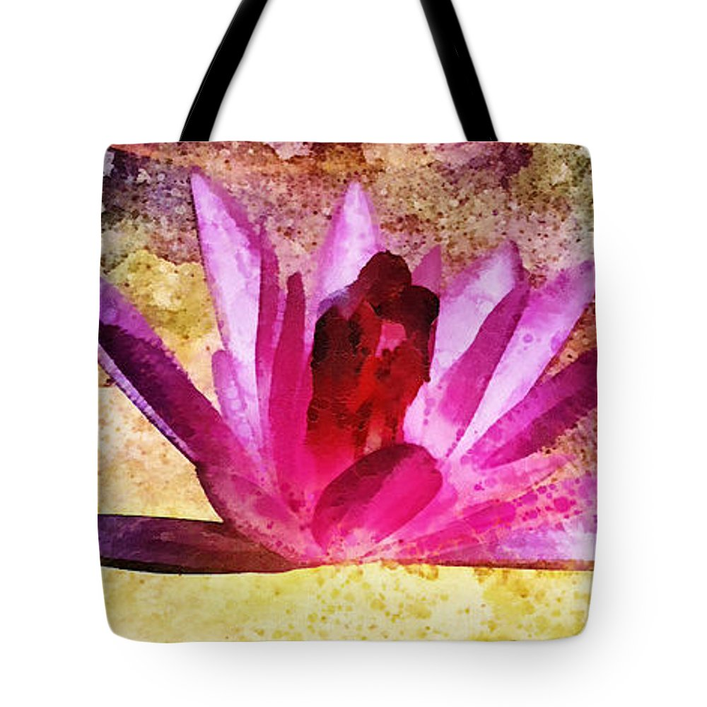 Shelter Tote Bag featuring the painting Shelter by Mo T