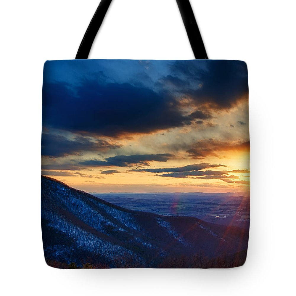 Park Tote Bag featuring the photograph Shenandoah Sunset by Joan Carroll
