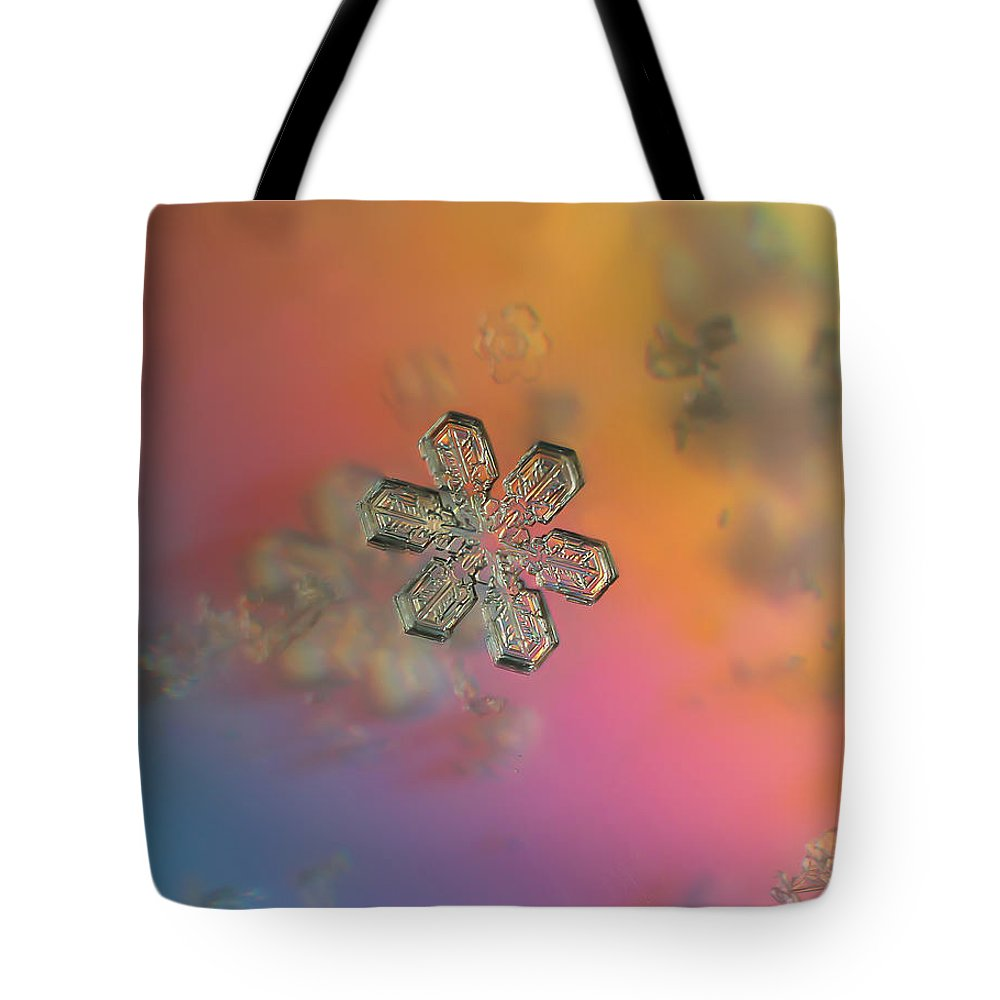 Snowflake Tote Bag featuring the photograph Sherbert by Jackie Novak
