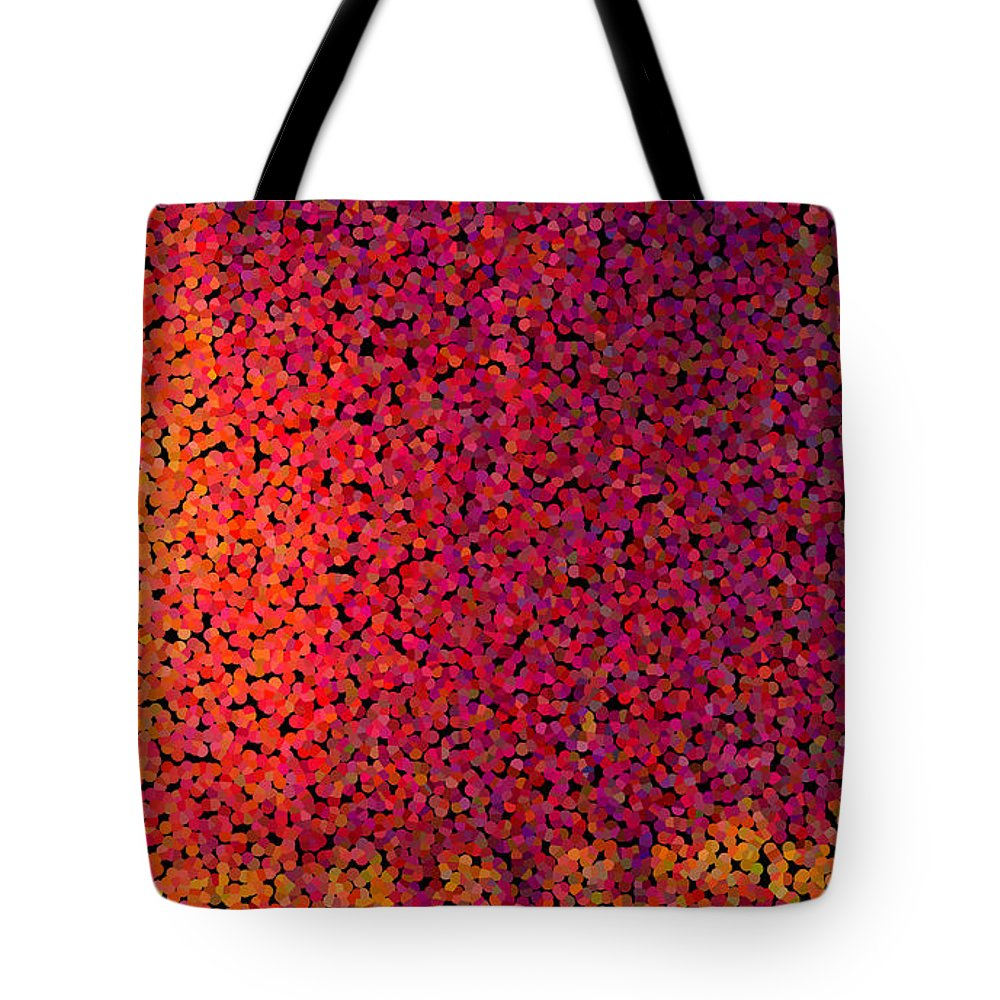 Abstract Tote Bag featuring the digital art Sherbet Pixels by James Kramer