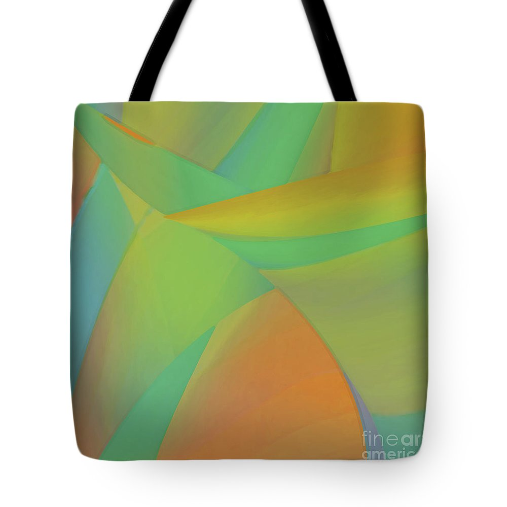 Abstract Tote Bag featuring the digital art Sherbeterrain by ME Kozdron