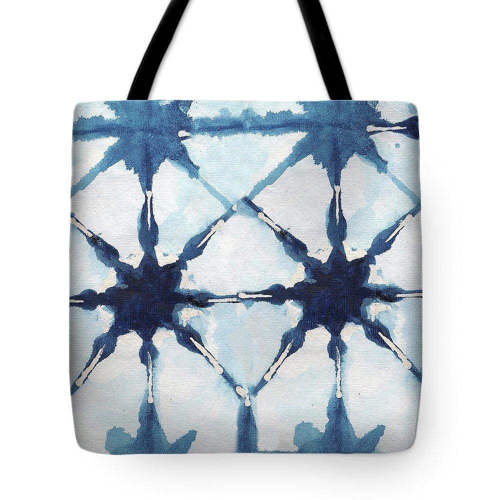 Shibori Tote Bag featuring the digital art Shibori II by Elizabeth Medley