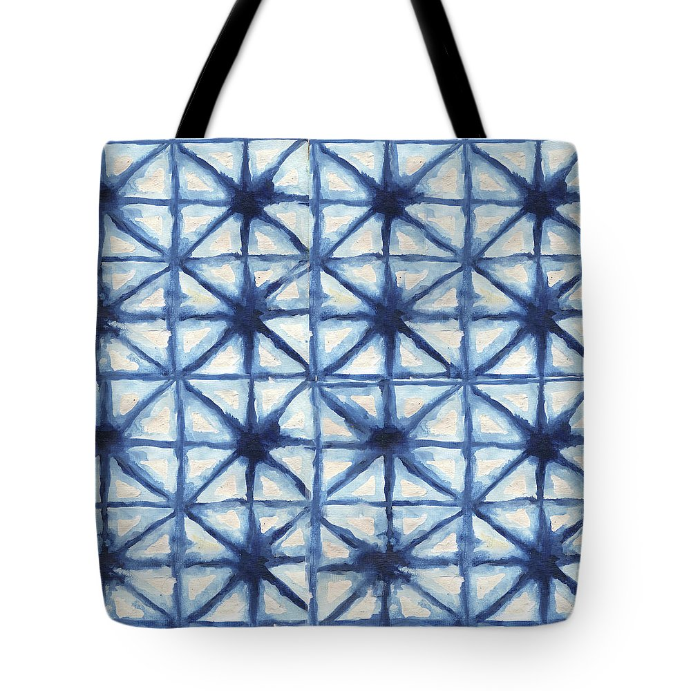 Shibori Tote Bag featuring the digital art Shibori Iv by Elizabeth Medley
