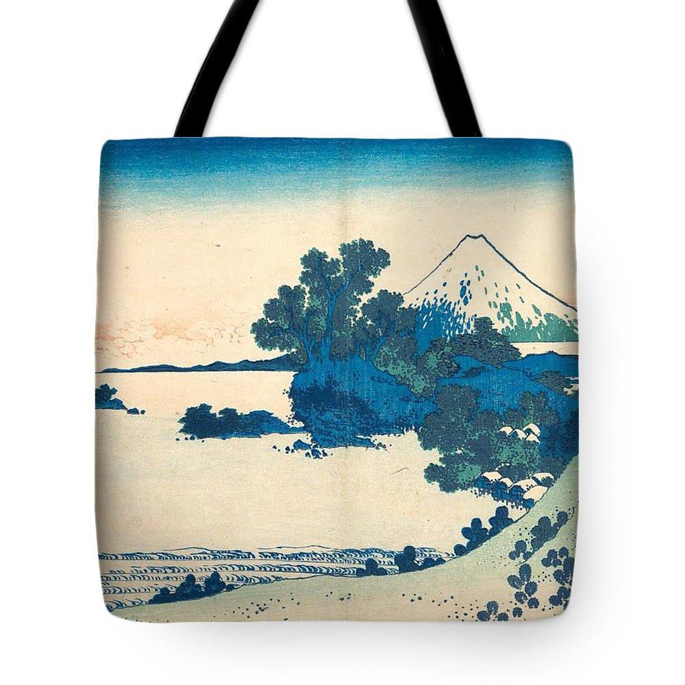 1830-1832 Tote Bag featuring the painting Shichirigahama In Sagami Province by Katsushika Hokusai