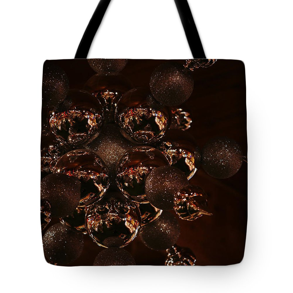 Christmas Tote Bag featuring the photograph Shimmer In Silver by Linda Shafer