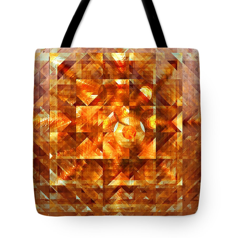 Abstract Tote Bag featuring the digital art Shimmer by Robert Mawby
