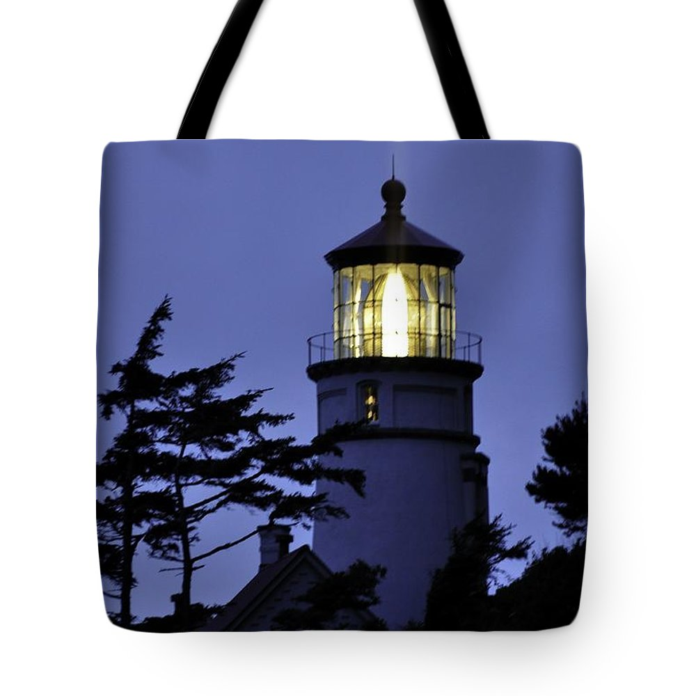 Heceta Head Tote Bag featuring the photograph Shine On The Ocean by Image Takers Photography LLC - Laura Morgan