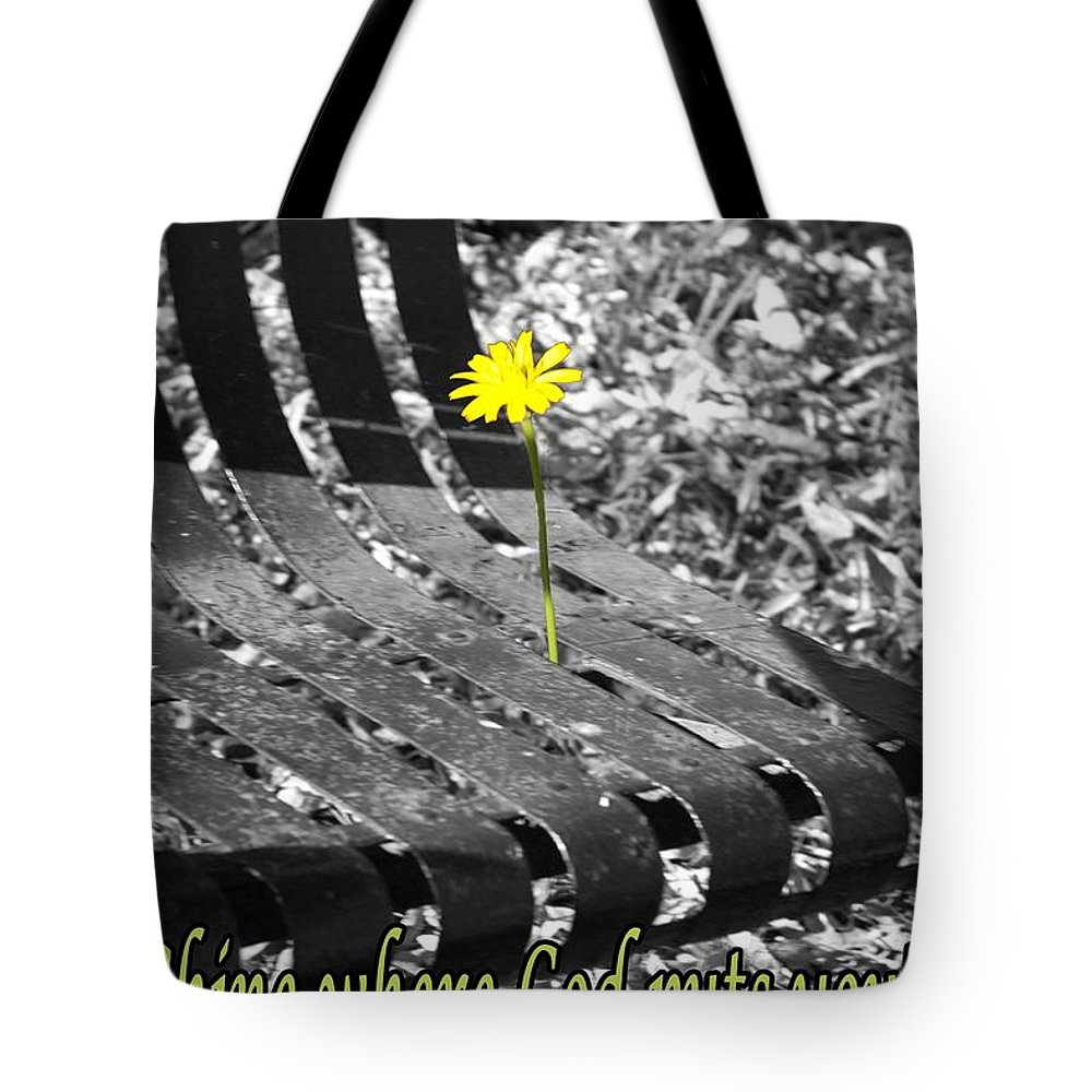 Flora Tote Bag featuring the photograph Shine Where God Puts You by Sandra Clark